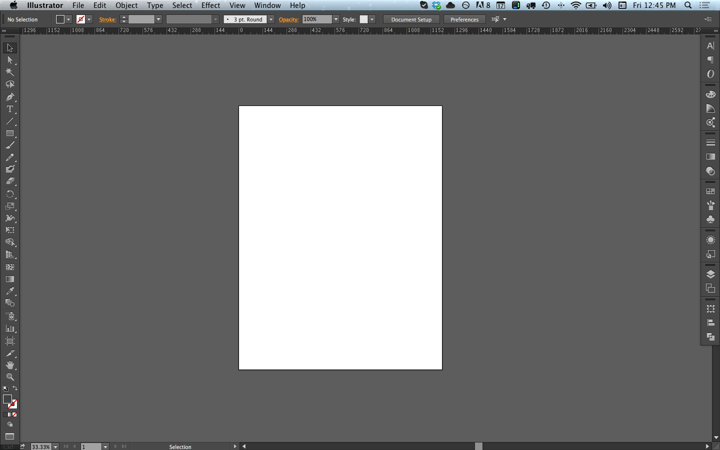 new illustrator document