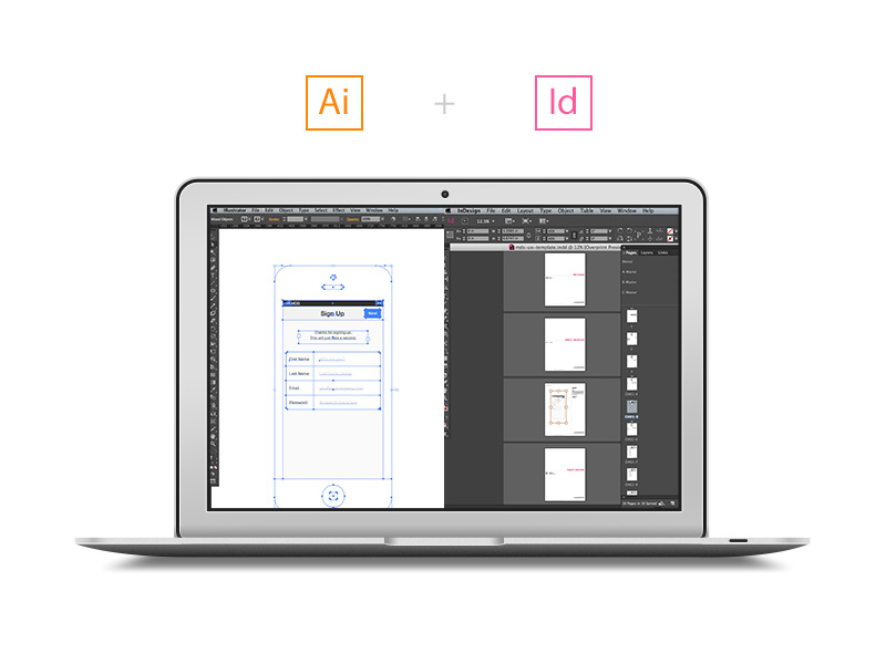 wireframing with illustrator and indesign