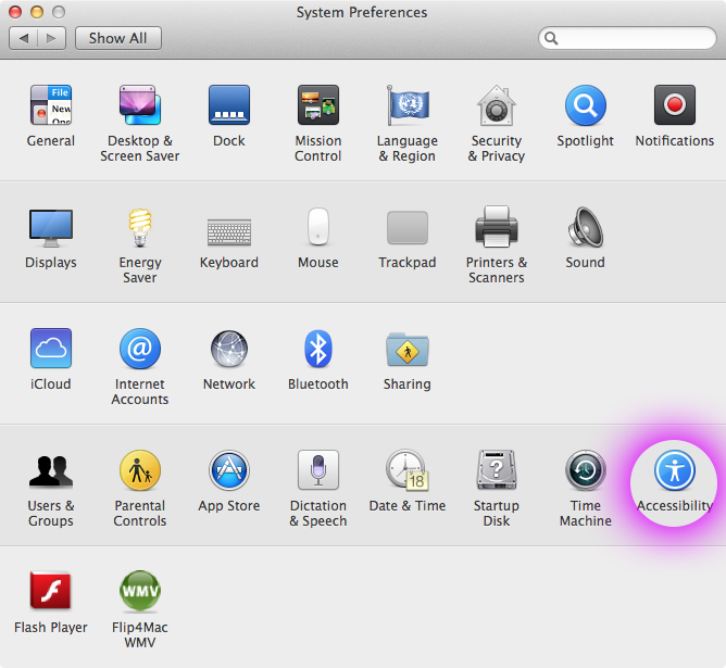 system preferences accessibility