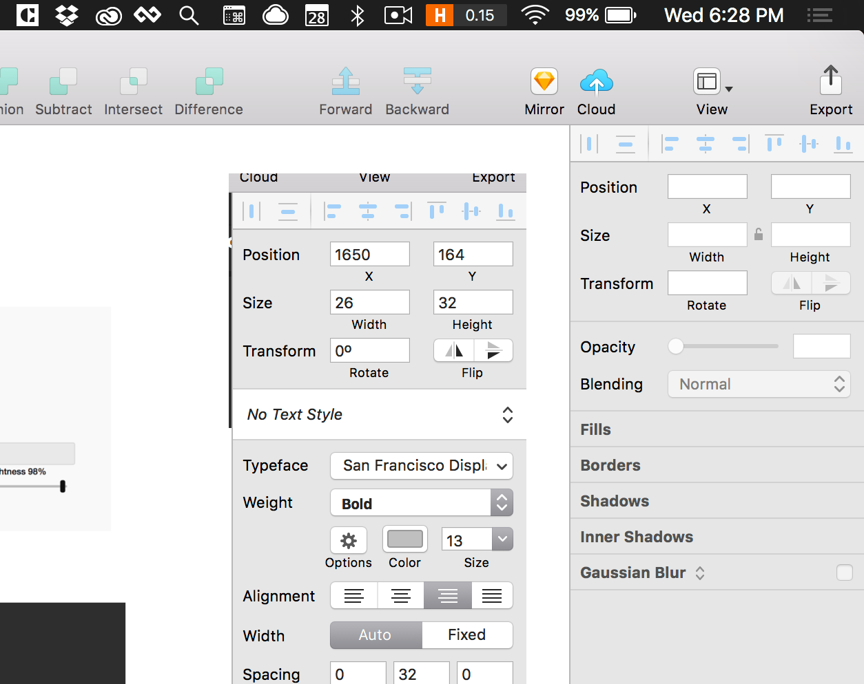 sketch tool panel screenshots